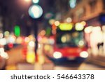 the bus travels down the street ... | Shutterstock . vector #546643378