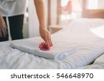 hotel maid doing room service.... | Shutterstock . vector #546648970