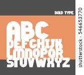 english bold alphabet letters...   Shutterstock .eps vector #546653770