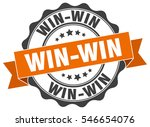 win win. stamp. sticker. seal.... | Shutterstock .eps vector #546654076