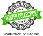 winter collection. stamp.... | Shutterstock .eps vector #546654400