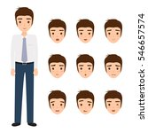 young man on different face... | Shutterstock .eps vector #546657574