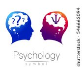 modern head logo sign of... | Shutterstock .eps vector #546663094