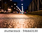 rainy night in the big city ... | Shutterstock . vector #546663130