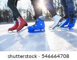 closeup of legs in skates on... | Shutterstock . vector #546664708