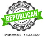 republican. stamp. sticker.... | Shutterstock .eps vector #546666820