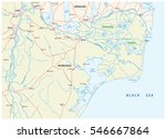 map of the danube delta in... | Shutterstock .eps vector #546667864