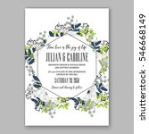 anemone wedding invitation card ... | Shutterstock .eps vector #546668149