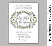 anemone wedding invitation card ... | Shutterstock .eps vector #546668266