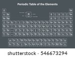 periodic table of the elements... | Shutterstock .eps vector #546673294