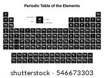 periodic table of the elements... | Shutterstock .eps vector #546673303