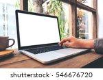 mockup image of hand using...   Shutterstock . vector #546676720
