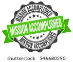 mission accomplished. stamp.... | Shutterstock .eps vector #546680290