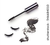 set with mascara  strokes and... | Shutterstock . vector #546684010