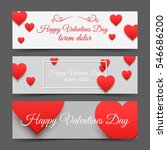three valentines day banners... | Shutterstock .eps vector #546686200