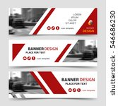 red modern horizontal business... | Shutterstock .eps vector #546686230