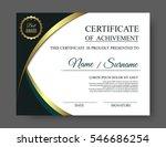 gold luxury certificate of... | Shutterstock .eps vector #546686254