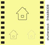 icon of home on yellow...