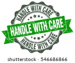 handle with care. stamp.... | Shutterstock .eps vector #546686866