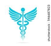 caduceus medical snake vector... | Shutterstock .eps vector #546687823