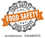 food safety. stamp. sticker.... | Shutterstock .eps vector #546689053