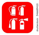 fire extinguisher vector icons... | Shutterstock .eps vector #546689410
