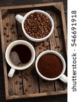 different types of coffee  ... | Shutterstock . vector #546691918