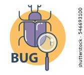 software bug searching icon.... | Shutterstock .eps vector #546693100