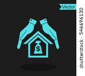 protection and mortgage vector... | Shutterstock .eps vector #546696130