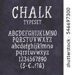 chalk font. handwritten... | Shutterstock .eps vector #546697300