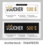 black and white gift voucher... | Shutterstock .eps vector #546698350