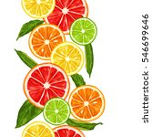 seamless pattern with citrus... | Shutterstock .eps vector #546699646