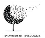 Vector Picture With Tree Crown...