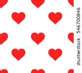 Red Heart Seamless Pattern....