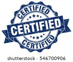 certified. stamp. sticker. seal.... | Shutterstock .eps vector #546700906