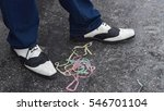 black and white shoes with... | Shutterstock . vector #546701104