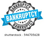 bankruptcy. stamp. sticker.... | Shutterstock .eps vector #546705628