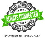 always connected. stamp.... | Shutterstock .eps vector #546707164