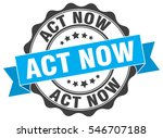 act now. stamp. sticker. seal.... | Shutterstock .eps vector #546707188
