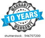 10 years warranty. stamp.... | Shutterstock .eps vector #546707200