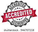 accredited. stamp. sticker.... | Shutterstock .eps vector #546707218