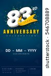 83 years anniversary invitation ... | Shutterstock .eps vector #546708889