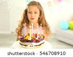 Funny Little Girl With Birthday ...