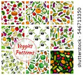vegetables patterns of... | Shutterstock .eps vector #546713350