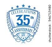 35th shield anniversary logo.... | Shutterstock .eps vector #546715480