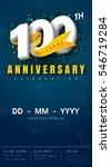 100 years anniversary... | Shutterstock .eps vector #546719284