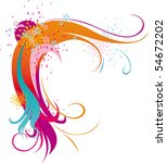 red abstract ornament with...   Shutterstock .eps vector #54672202