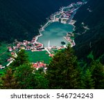 long lake  uzungol  in trabzon... | Shutterstock . vector #546724243