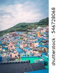 Small photo of Busan, South Korea - 25 September 2016: Gamcheon Culture Village.The area is known for its brightly painted houses, which have been restored and enhanced in recent years to attract tourism.