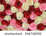 Stock photo a mixed rose bouquet for a wedding 546728350